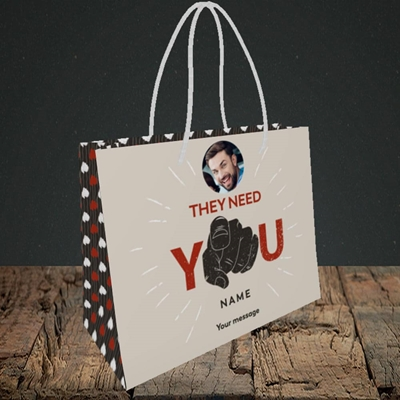 Picture of They Need You, New Job Design, Small Landscape Gift Bag