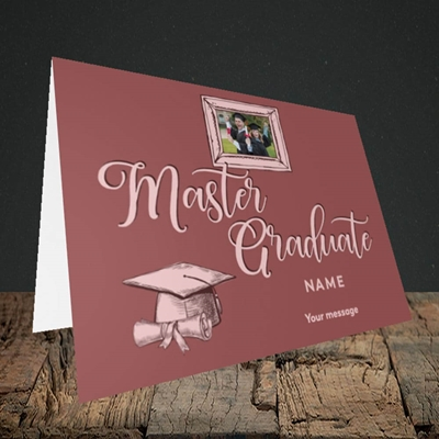 Picture of Master Graduate, Graduation Design, Landscape Greetings Card