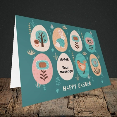 Picture of Easter Egg Farm(Without Photo), Easter Design, Landscape Greetings Card