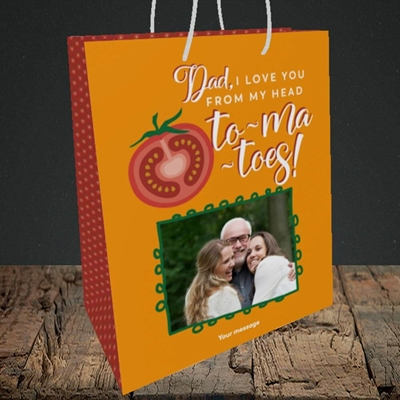 Picture of Tomatoes, Father's Day Design, Medium Portrait Gift Bag