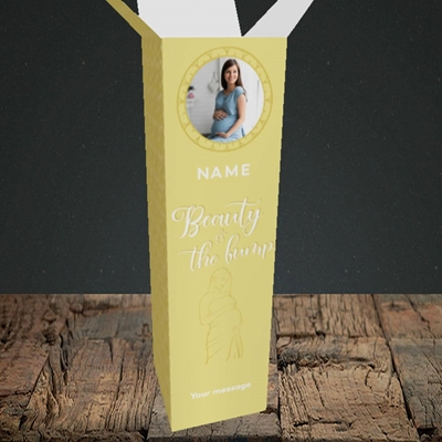 Picture of Beauty & The Bump, Pregnancy Design, Upright Bottle Box