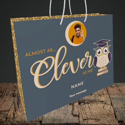 Picture of Clever as Me, Graduation Design, Medium Landscape Gift Bag