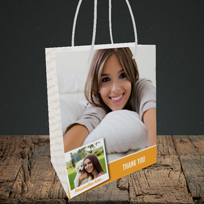 Picture of Photo, Thank You Design, Small Portrait Gift Bag