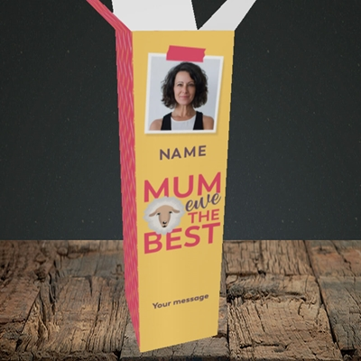 Picture of Ewe The Best, Mother's Day Design, Upright Bottle Box