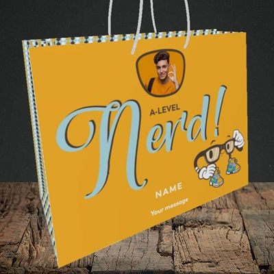 Picture of A-Level Nerd, Graduation Design, Medium Landscape Gift Bag