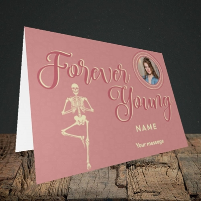 Picture of Forever Young(Skeleton), Birthday Design, Landscape Greetings Card