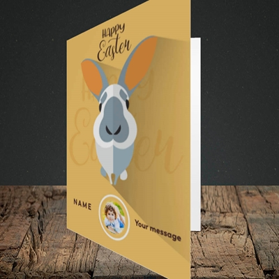 Picture of Pick Me Up Bunny, Easter Design, Portrait Greetings Card