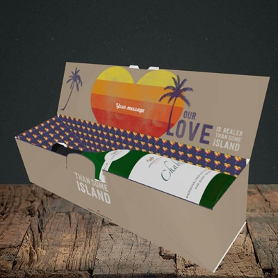 Picture of Our Love Is Realer(Without Photo), Valentine's Design, Lay-down Bottle Box