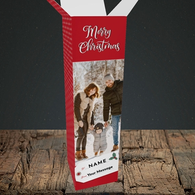 Picture of 1. A Merry Christmas, Large Photo, Christmas Design, Upright Bottle Box