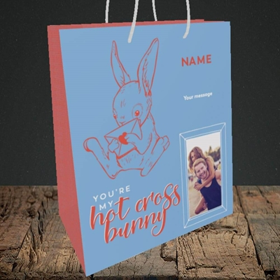 Picture of Hot Cross Bunny, Easter Design, Medium Portrait Gift Bag