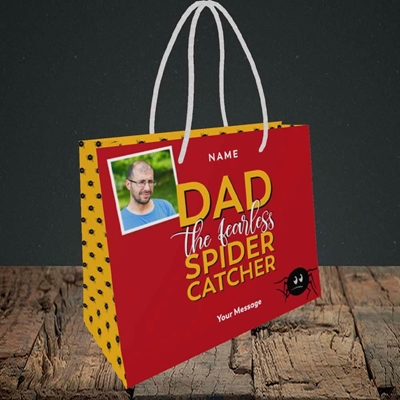Picture of Spider Catcher, Father's Day Design, Small Landscape Gift Bag