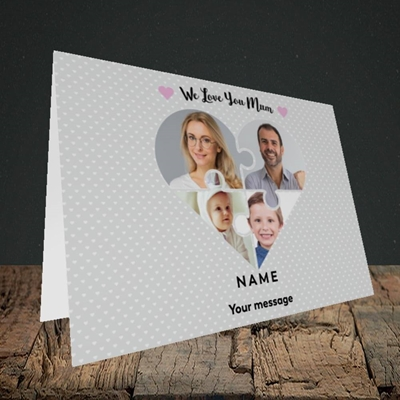 Picture of Love You Mum-Puzzle, Mother's Day Design, Landscape Greetings Card