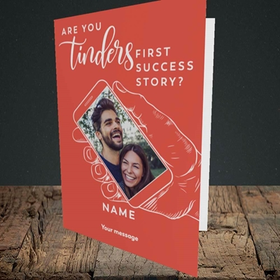 Picture of Tinder, Wedding Design, Portrait Greetings Card