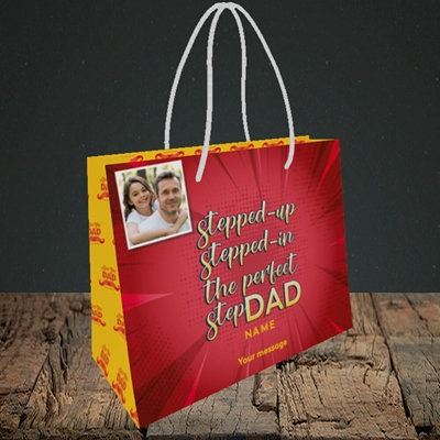 Picture of Stepped Up, Father's Day Design, Small Landscape Gift Bag