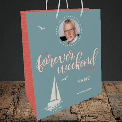 Picture of Forever Weekend, Retirement Design, Medium Portrait Gift Bag