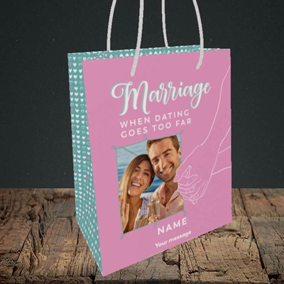 Picture of Dating Goes Too Far, Wedding Design, Small Portrait Gift Bag