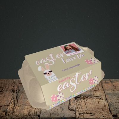 Picture of Easter Lama, Easter Design, 6 Egg Box