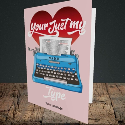 Picture of Just My Type(Without Photo), Valentine's Design, Portrait Greetings Card