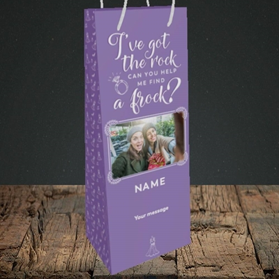 Picture of Got The Rock, Wedding Design, Bottle Bag