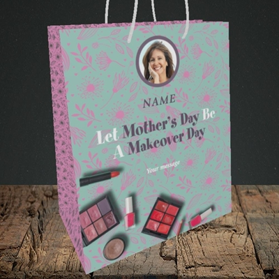 Picture of Makeover Day, Mother's Day Design, Medium Portrait Gift Bag