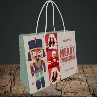 Picture of Merry Nutcracker, Christmas Design, Small Landscape Gift Bag