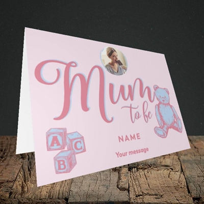 Picture of Mum To Be, Pregnancy Design, Landscape Greetings Card