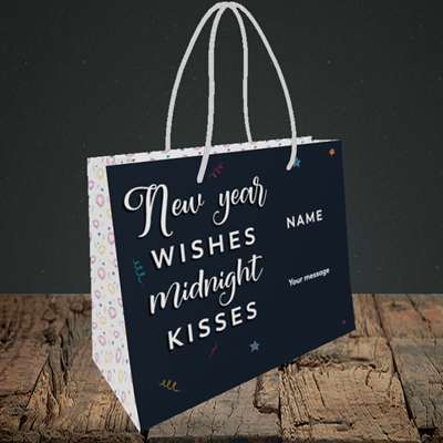 Picture of Midnight Kisses(Without Photo), New Year Design, Small Landscape Gift Bag