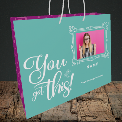 Picture of Got this, Good Luck Design, Medium Landscape Gift Bag
