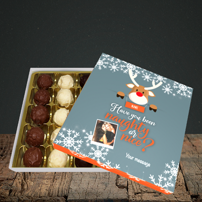Picture of Naughty, Christmas Design, Choc 25