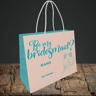 Picture of Be My Bridesmaid(Without Photo), Wedding Design, Small Landscape Gift Bag