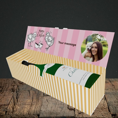 Picture of Little Chicks, Easter Design, Lay-down Bottle Box