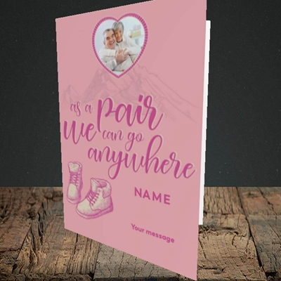Picture of Anywhere, Valentine's Design, Portrait Greetings Card