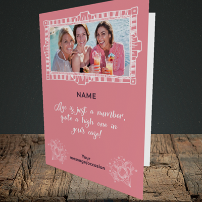 Picture of Age, Birthday Design, Portrait Greetings Card
