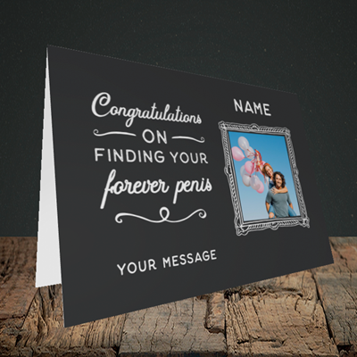Picture of Forever, Engagement Design, Landscape Greetings Card