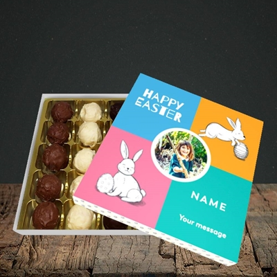 Picture of 4 Colour Bunnies, Easter Design, Choc 25