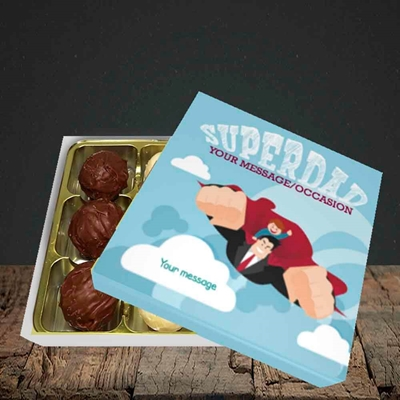 Picture of Superdad,(Without Photo) Father's Day Design, Choc 9