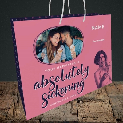 Picture of Absolutely Sickening, Wedding Design, Medium Landscape Gift Bag