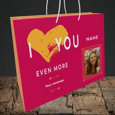 Picture of Love You Even More, Anniversary Design, Medium Landscape Gift Bag