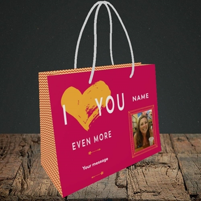 Picture of Love You Even More, Anniversary Design, Small Landscape Gift Bag