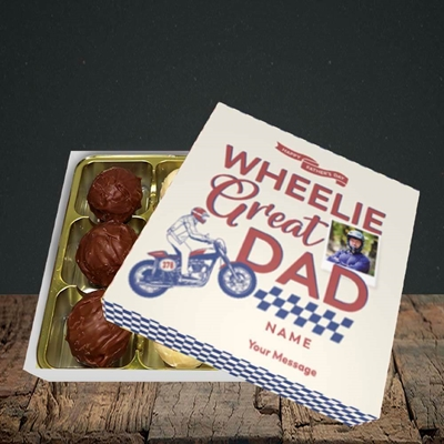Picture of Wheelie Great Dad, Father's Day Design, Choc 9