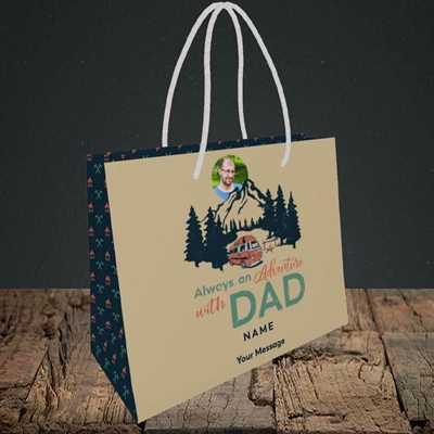 Picture of Camper Van With Dad, Father's Day Design, Small Landscape Gift Bag