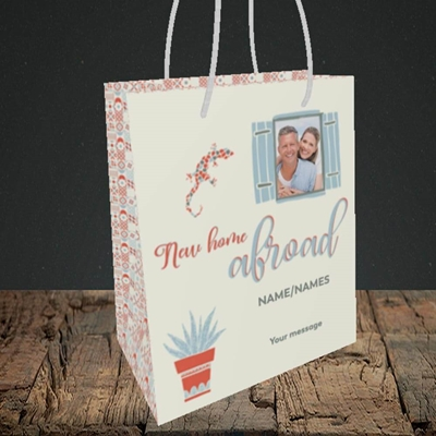 Picture of New Home Abroad, New Home Design, Small Portrait Gift Bag