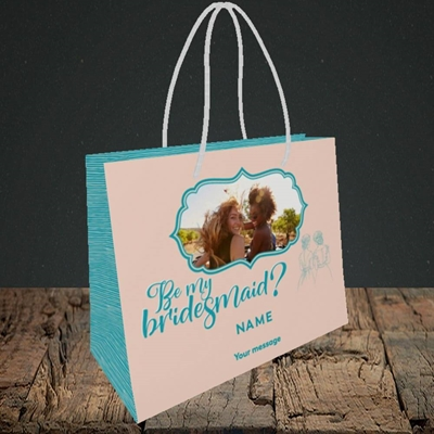Picture of Be My Bridesmaid, Wedding Design, Small Landscape Gift Bag