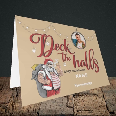 Picture of Deck The Halls, Christmas Design, Landscape Greetings Card