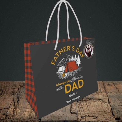 Picture of Adventure With Dad, Father's Day Design, Small Landscape Gift Bag