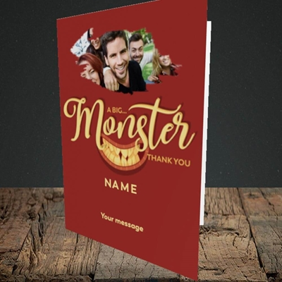 Picture of Monster Thank You, Thank You Design, Portrait Greetings Card