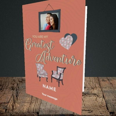 Picture of Greatest Adventure, Valentine's Design, Portrait Greetings Card