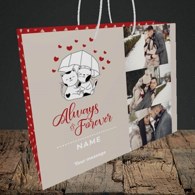 Picture of Always & Forever, Valentine's Design, Medium Landscape Gift Bag