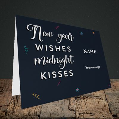 Picture of Midnight Kisses(Without Photo), New Year Design, Landscape Greetings Card