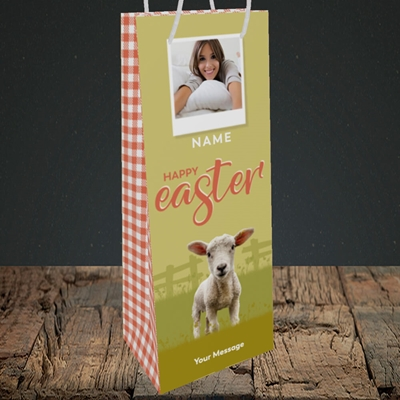 Picture of Lamb To See You, Easter Design, Bottle Bag